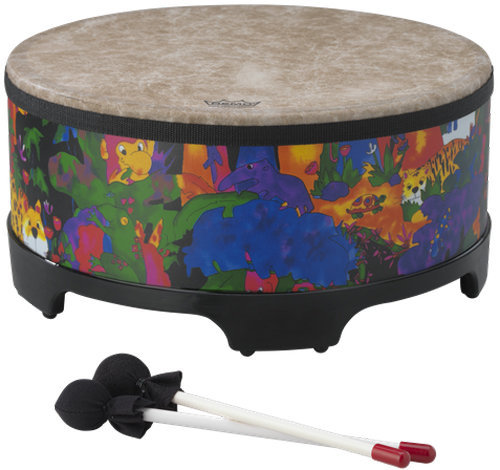 """View larger image of Remo Kids Percussion Gathering Drum - 8""""x18"""", Rain Forest"""