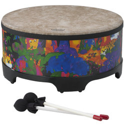 """Remo Kids Percussion Gathering Drum - 8""""x18"""", Rain Forest"""