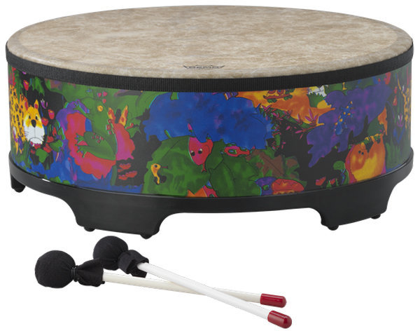 """View larger image of Remo Kids Percussion Gathering Drum - 8""""x22"""", Rain Forest"""