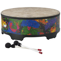 """Remo Kids Percussion Gathering Drum - 8""""x22"""", Rain Forest"""