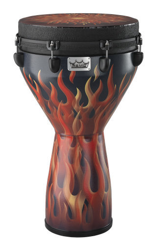 View larger image of Remo Mondo Djembe Drum - Flame, 14