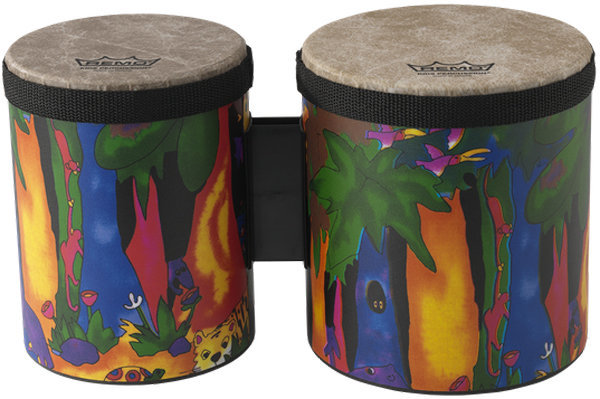 """View larger image of Remo Percussion Bongo Set - 5""""/6"""", Rain Forest"""
