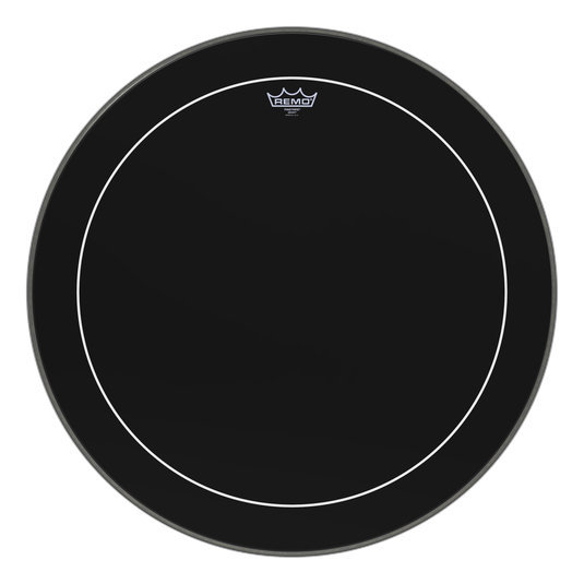 View larger image of Remo Pinstripe Ebony Bass Drumhead - 26