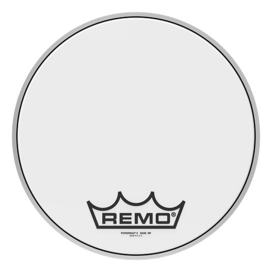 View larger image of Remo Powermax 2 Ultra White Crimplock Bass Drumhead - 16