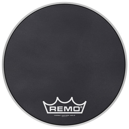 View larger image of Remo Powermax Black Suede Crimplock Bass Drumhead - 18