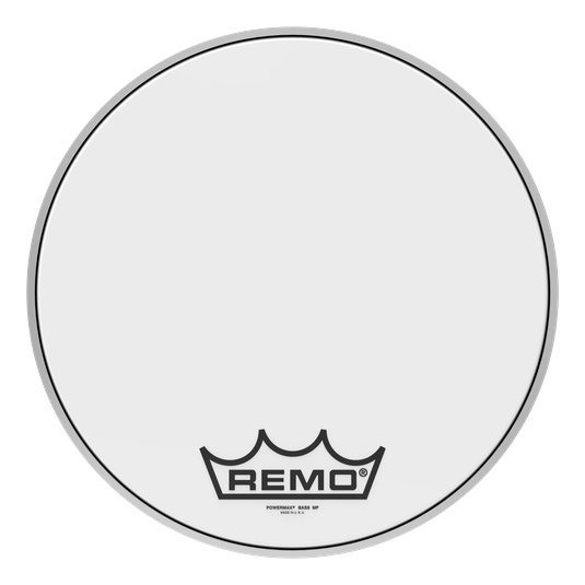 View larger image of Remo Powermax Ultra White Crimplock Bass Drumhead - 16