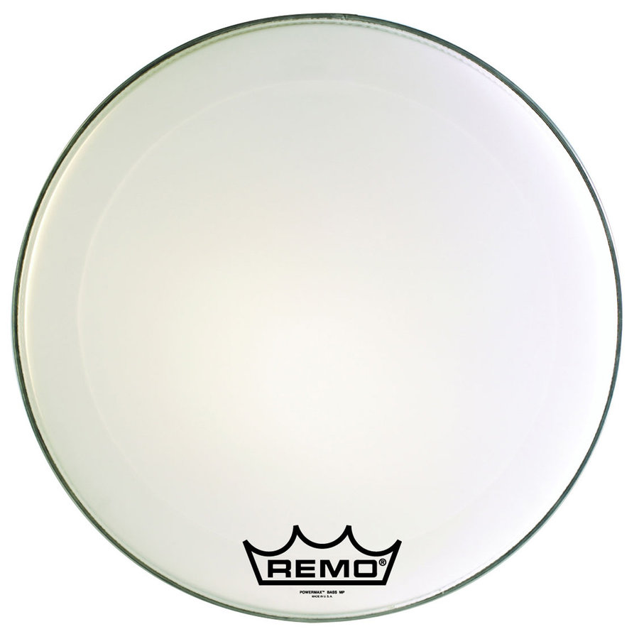 View larger image of Remo Powermax Ultra White Crimplock Bass Drumhead - 28