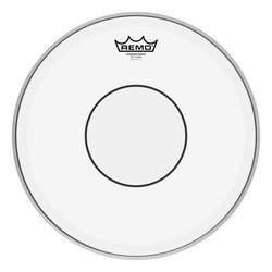 Remo Powerstroke 77 Clear Clear Dot Drumhead - Top Clear Dot, 13