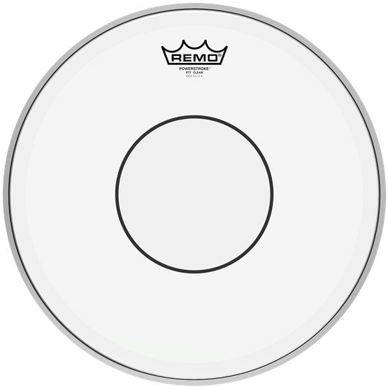 View larger image of Remo Powerstroke 77 Clear Clear Dot Drumhead - Top Clear Dot, 14