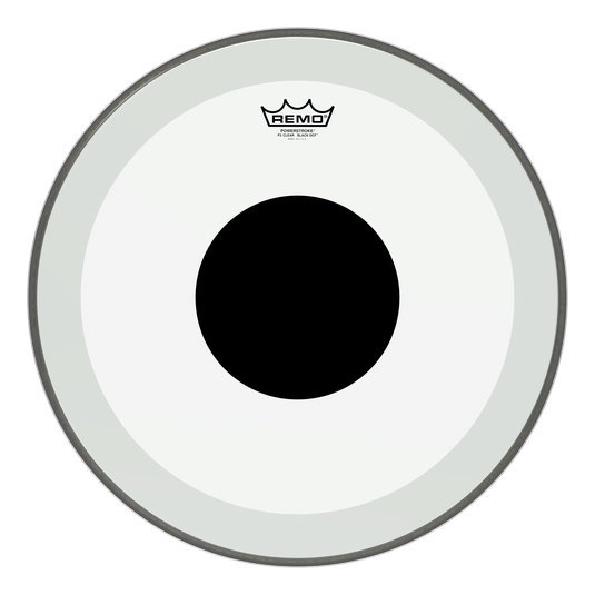 View larger image of Remo PowerStroke P3 Clear Black Dot Bass Drumhead - Top Black Dot, 18