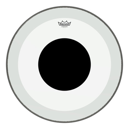 View larger image of Remo PowerStroke P3 Clear Black Dot Bass Drumhead - Top Black Dot, 22