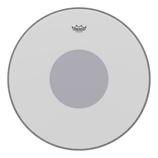 View larger image of Remo PowerStroke P3 Coated Black Dot Bass Drumhead - Bottom Black Dot, 24