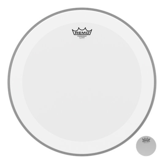 View larger image of Remo PowerStroke P4 Coated Bass Drumhead - 18