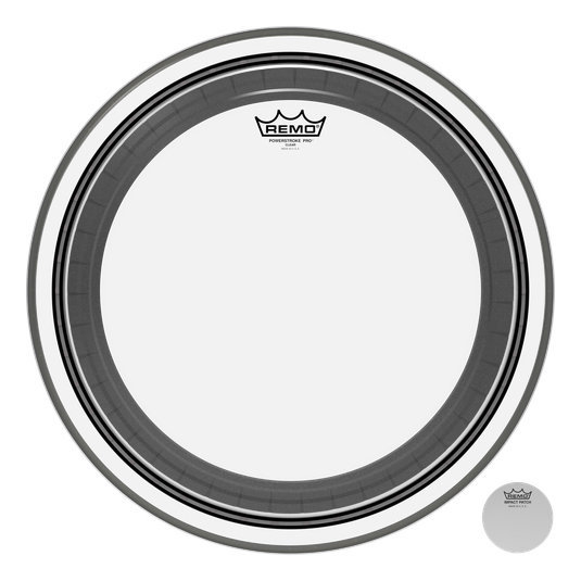 View larger image of Remo Powerstroke Pro Clear Bass Drumhead - 24