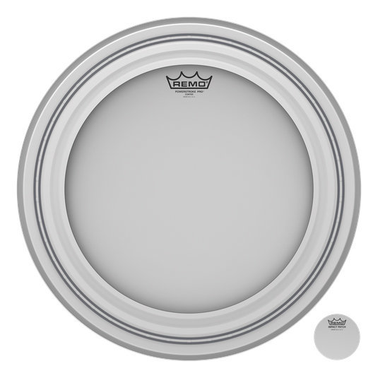 View larger image of Remo Powerstroke Pro Coated Bass Drumhead - 18