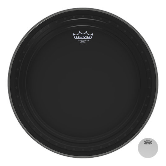 View larger image of Remo Powerstroke Pro Ebony Bass Drumhead - 24