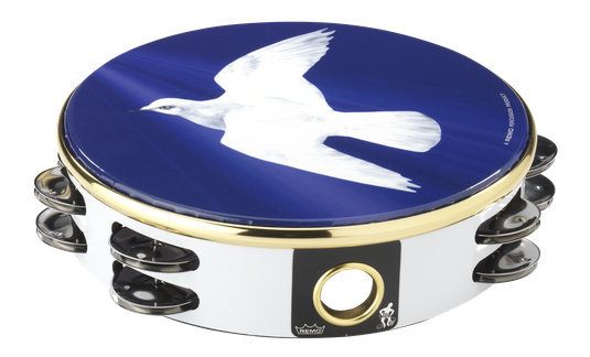 View larger image of Remo Praise Tambourine - Religious Dove, 8