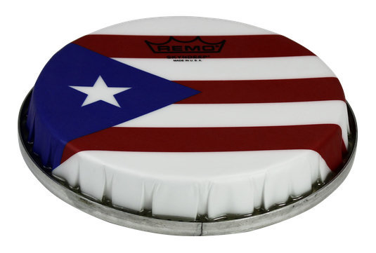 View larger image of Remo R-Series Skyndeep Bongo Drumhead - Puerto Rican Flag Graphic, 7.15