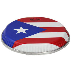 Remo Symmetry Skyndeep Conga Drumhead - Puerto Rican Flag Graphic, 11.06