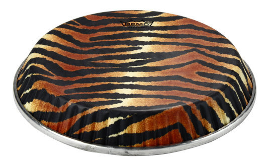 View larger image of Remo Symmetry Skyndeep Conga Drumhead - Tiger Stripe Graphic, 11.75