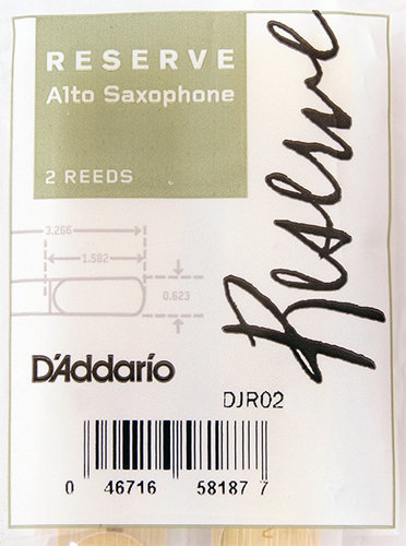 View larger image of D'Addario Reserve Alto Saxophone Reeds - #3, 2 Pack