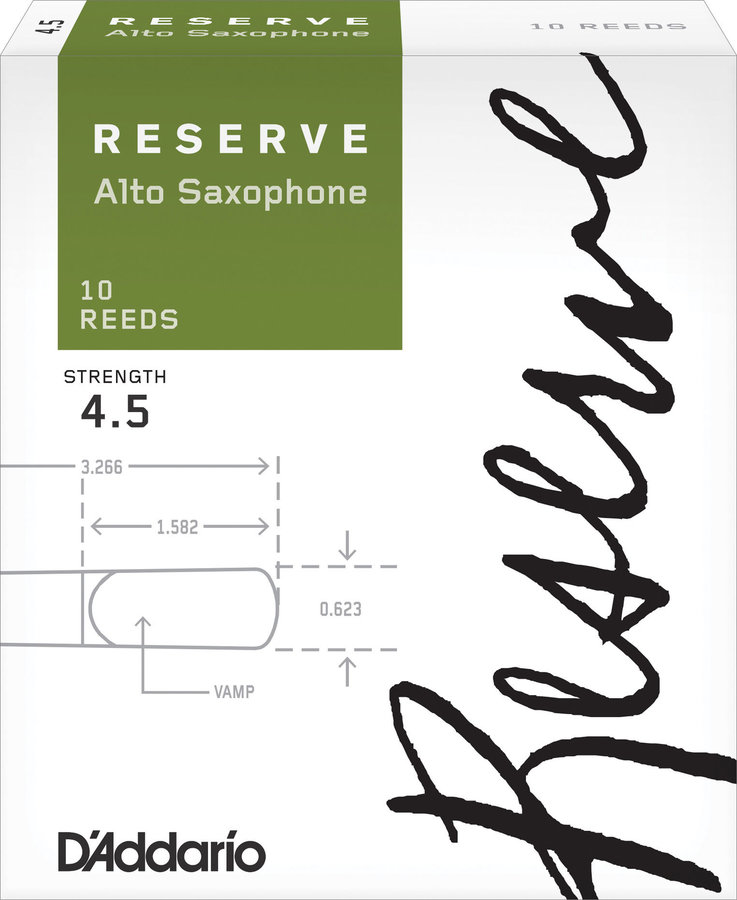 View larger image of Reserve Alto Saxophone Reeds - #4-1/2, 10 Box