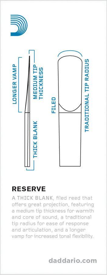 View larger image of D'Addario Reserve Bass Clarinet Reeds - #2-1/2, 5 Box