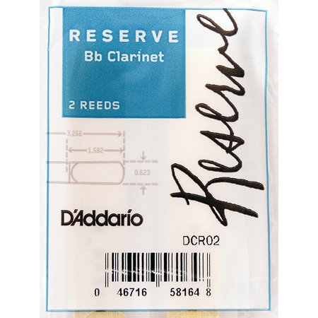 View larger image of D'Addario Reserve Bb Clarinet Reeds - #3, 2 Pack