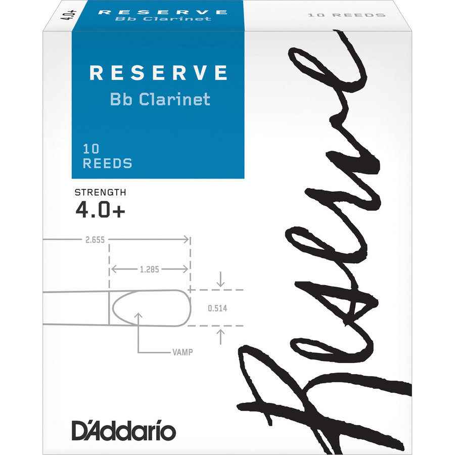 View larger image of D'Addario Reserve Bb Clarinet Reeds - #4+, 10 Box