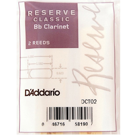 View larger image of Reserve Classic Bb Clarinet Reeds - #4+, 2 Pack