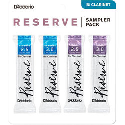 Reserve Reed Bb Clainet Sampler Pack - #2-1/2/3, 4 Pack