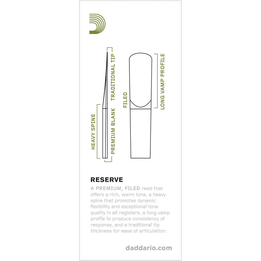 View larger image of Reserve Tenor Saxophone Reeds - #3-1/2, 2 Pack