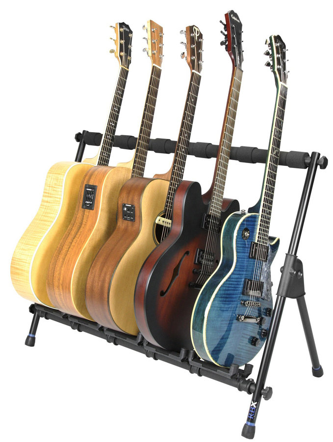 View larger image of Reunion Blues RBXS Multi-Guitar Stand for 5 Guitars