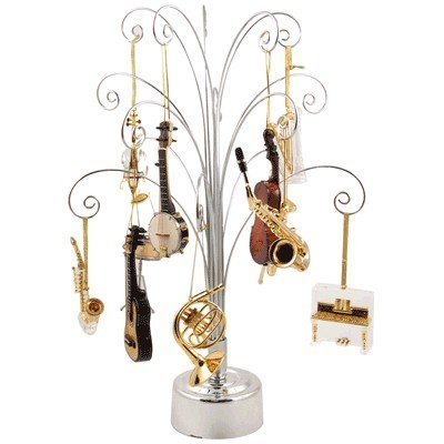 View larger image of Revolving Ornament Display Tree - Silver