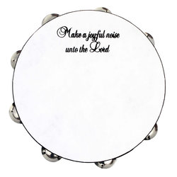 Rhythm Band JTAM10 Make A Joyful Noise Tambourine - 10, 8 Jingles
