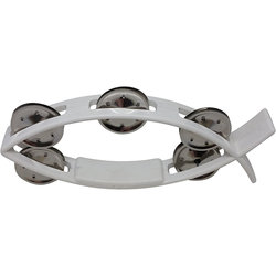 Rhythm Band Littlefish Tambourine - White