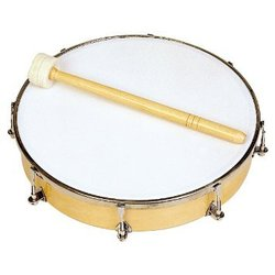 Rhythm Band RB1180 10 Tunable Hand Drum - 8 Tuners with Mallet