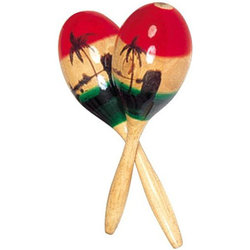Rhythm Band RB1201 Large Coloured Wood Maracas