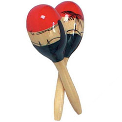 Rhythm Band RB1203 Medium Coloured Wood Maracas