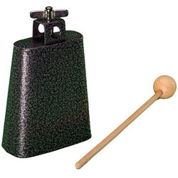 Rhythm Band RB1220 4-1/2 Cowbell with Mallet - Nickel