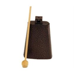 Rhythm Band RB1221 5 3/4 Cowbell with Mallet - Nickel Colour