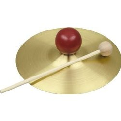 Rhythm Band RB733S 5 Solid Brass Cymbal with Knob and Mallet