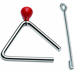 Rhythm Band RB748 4 Triangle with Striker and Holder