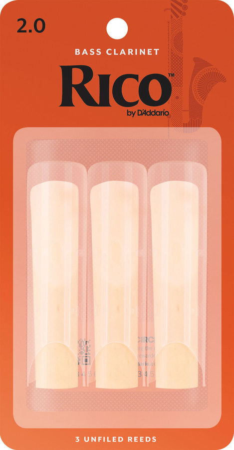 View larger image of Rico Bass Clarinet Reeds - #2, 3 Pack