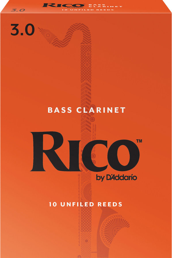 View larger image of Rico Bass Clarinet Reeds - #3, 10 Box
