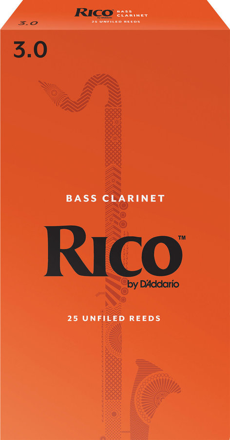 View larger image of Rico Bass Clarinet Reeds - #3, 25 Box