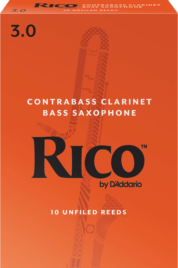 View larger image of Rico Contra Bass and Contra Alto Clarinet Reeds - #3, 10 Box