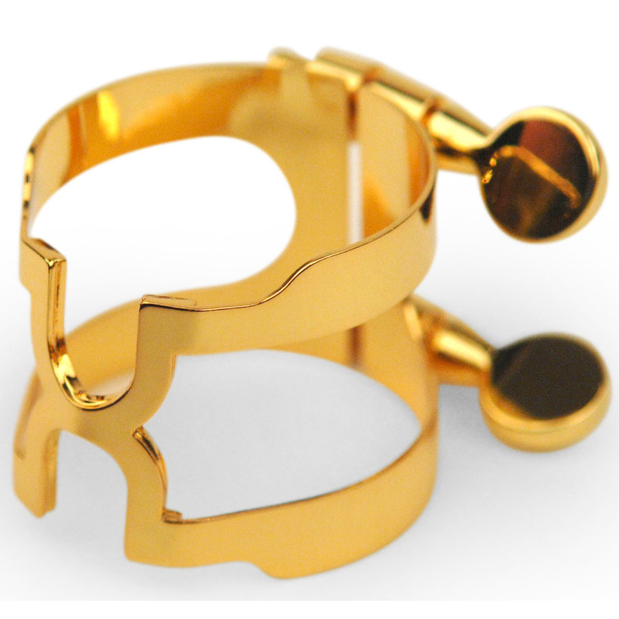 View larger image of Rico H-Ligature and Cap for Baritone Sax - Gold