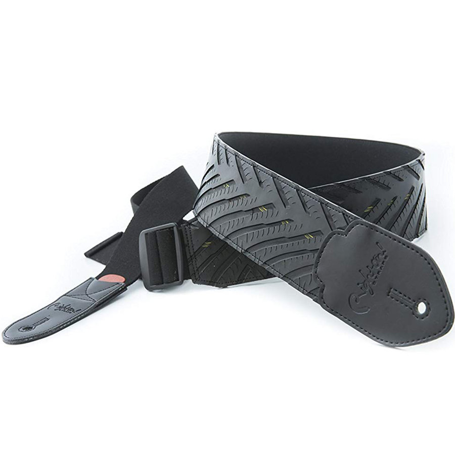 View larger image of Right On! Funky Hot Wheels Guitar Strap - Black