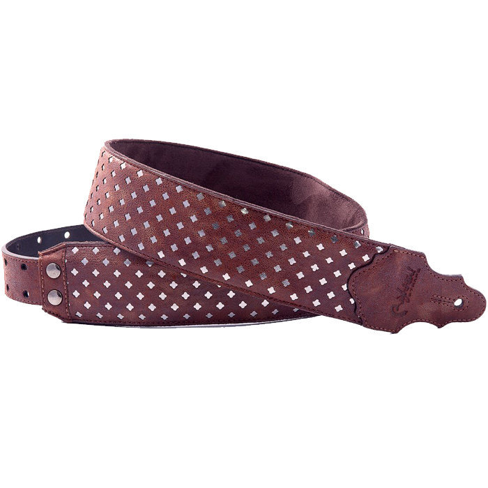 View larger image of Right On! Sparks Lys Guitar Strap - Brown